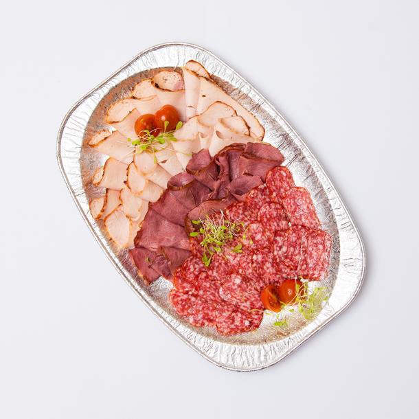 Ассорти мясное (буженина из птицы, говядина варено-копченая, колбаса п\к в/с)