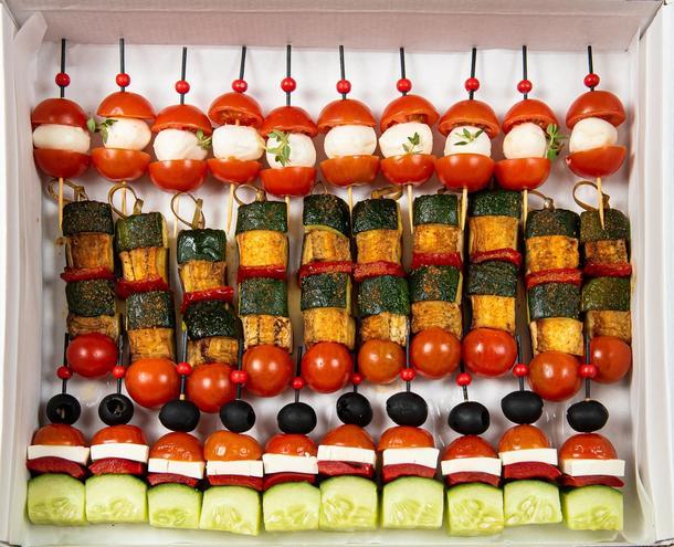 Бокс овощных канапе (30 шт)